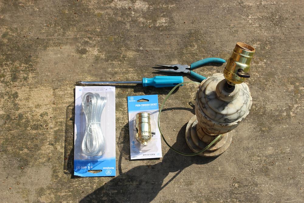 Rewire a Lamp - Supplies