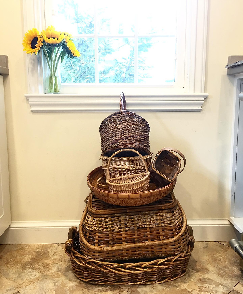 thrifted baskets
