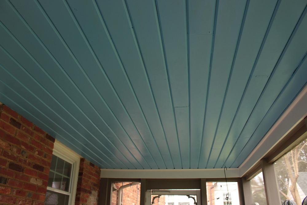 Porch Ceiling Blues