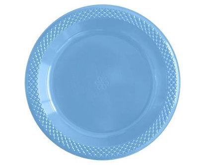 Plato 9° azul claro