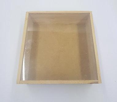 Guacal alcancia mediana con vidrio