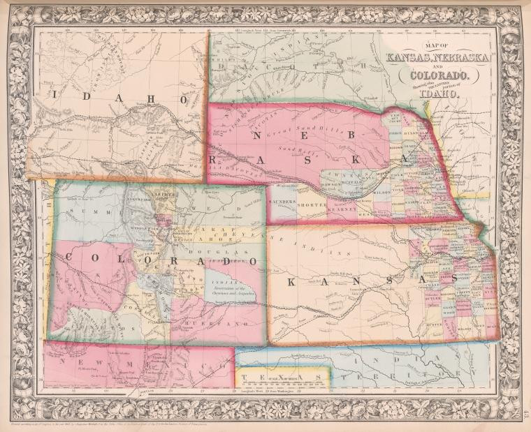 1863 Map from the New York Public Library Digital Collections