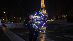 Lila Chupa-Hoops LED Fans