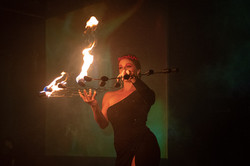 Lila Chupa-Hoops Fire Fans