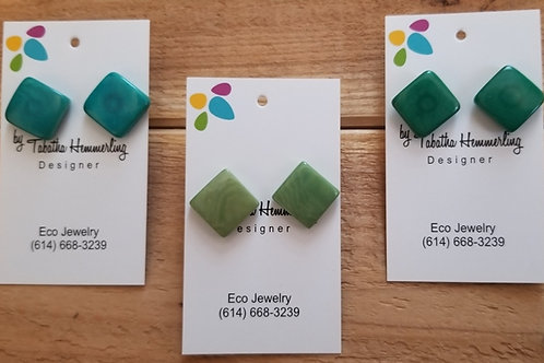 Square Tagua Earrings