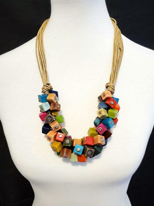 Acqua Multicolor Tagua Necklace