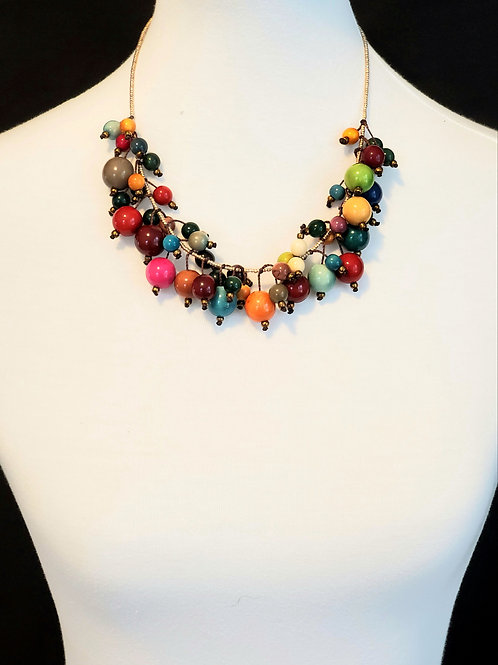 Multicolor Tagua Pearl Necklace