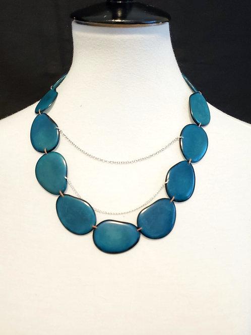 Anti Tagua Nut Necklace ( Malachite Color )