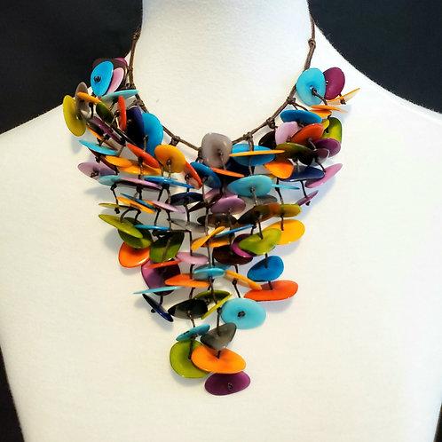 Inti Tagua Nut Necklace ( Multicolor )