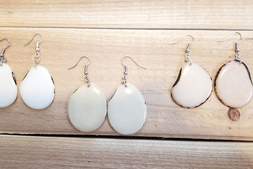 Illa Tagua Nut Earrings