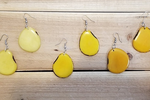 Illa Tagua Nut Earrings