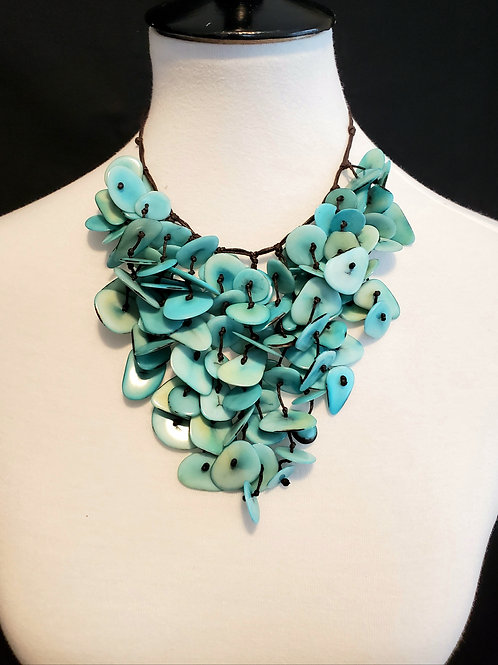 Inti Tagua Necklace ( Light Blue )