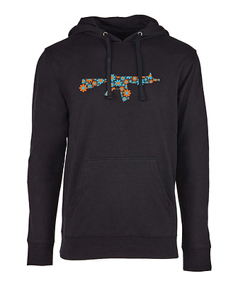 WHOLESALE Flower Power Hoodie  (orange & blue) | Lightweight