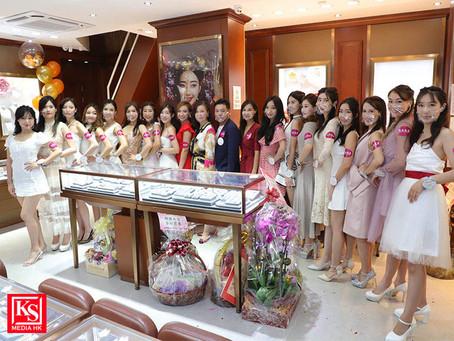 《亞洲小姐競選2021》試戴后冠活動一眾佳麗以一身潔白及高貴造型亮相並試戴后冠