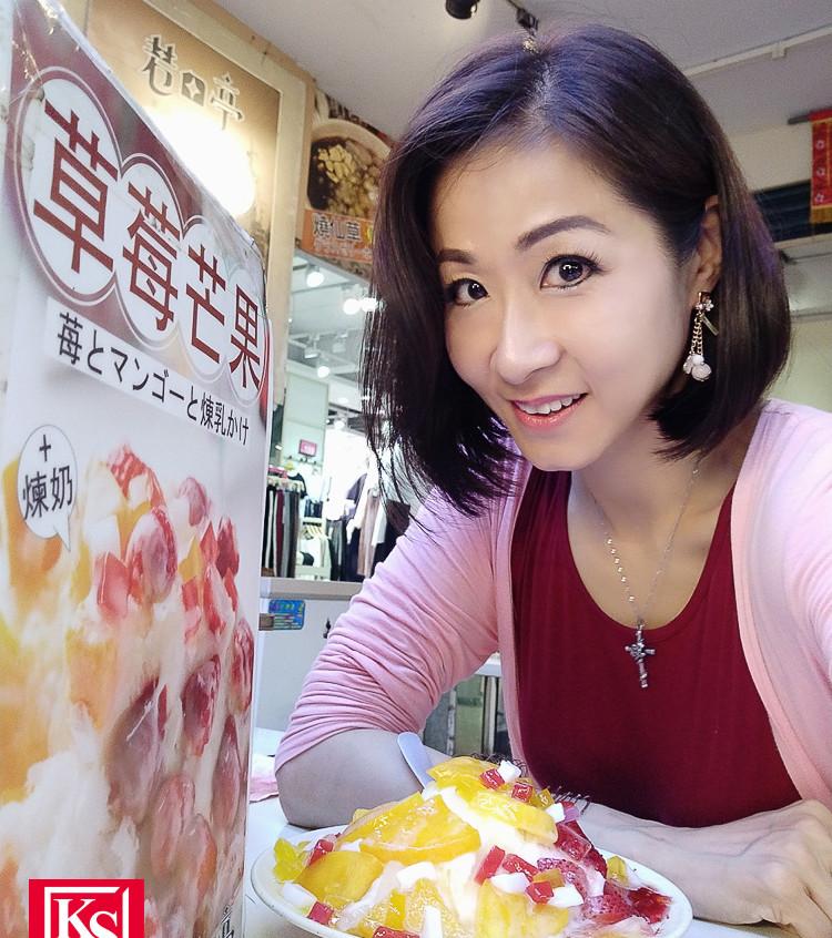 Winnie 在台灣食得放肆,大食大喝笑言長胖不少 (1)