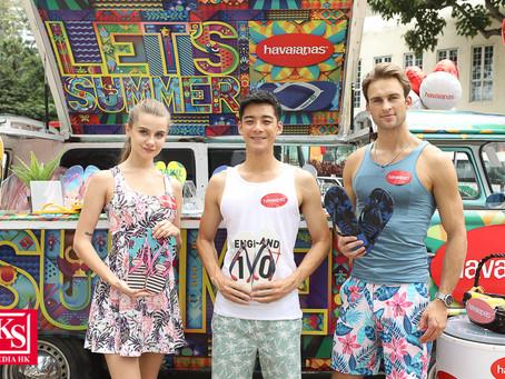 陽光男神余德丞帶同型男美女團現身Havaianas Juicy Van 淺水灣泳灘派發冰涼果汁 為泳客降溫