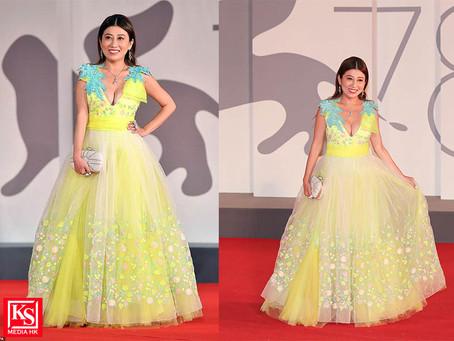 劉晨芝性感登場行威尼斯影展紅地毯 成香港唯一代表