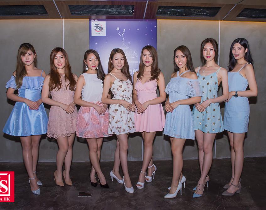 「2018亞洲太平洋國際小姐」最後8強佳麗見面交流, 左起(1)朱綽盈 (2)劉