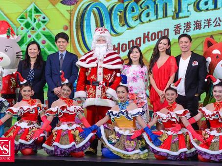 Jessica C與安志杰為海洋公園聖誕全城HO HO HO揭幕
