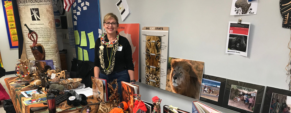 Rene Lauer teaches cultural awareness and traditions of different African tribes