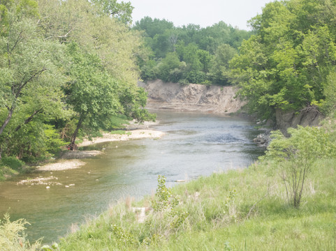 Mazon Creek showing Shale outcrops