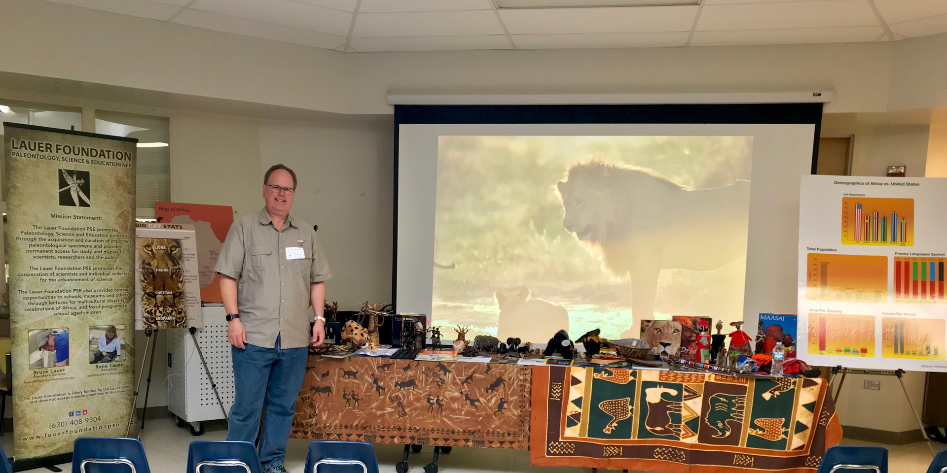 Bruce Lauer shares information on wildlife conservation