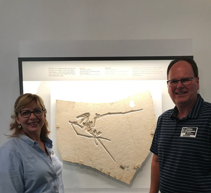 Rene Lauer and Bruce Lauer showcasing the Lauer Foundation PSE exhibit at the Field Museum of Natural History, Chicago, Illinois