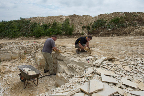 Bruce and Robert Lauer collecting in a Quarry near Muehlheim, Germany