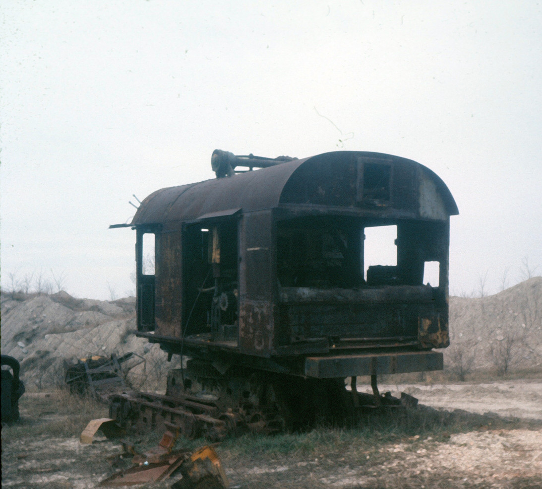Old Steam Shovel at Pit 11 Braidwood, Illinois, Photo Rich Rock