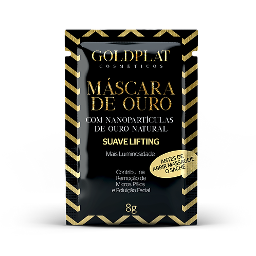 Kit 3 Máscara Facial Goldplat Com Nanopartículas De Ouro