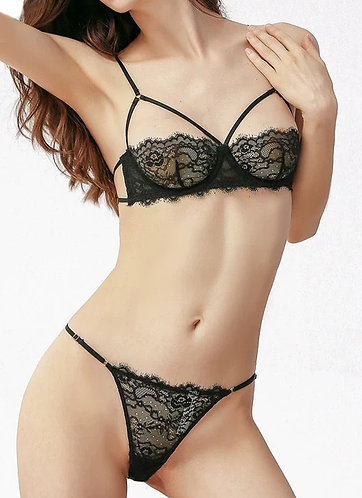 Lucia Ultra Sexy Bra and G-String Set Black