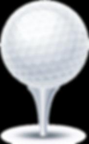 Illustratin of a golf ball on tee
