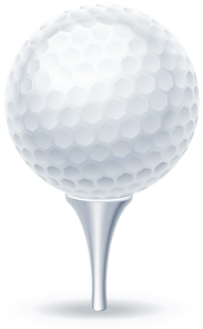 Illustration of a golf ball on tee