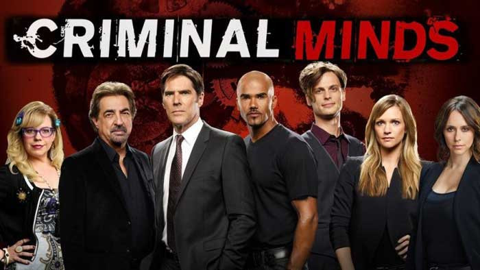 Poster of Criminal Minds show with entire cast and title
