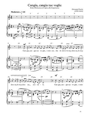 """Music Copying Example """"Cangia, Cangia"""""""