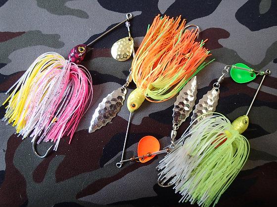 Premium Frog Spinner Bait 3 Pack