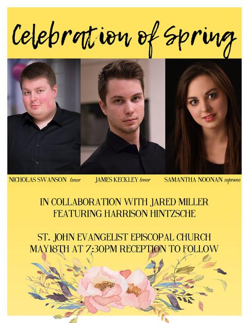 Celebration of Spring Recital Poster