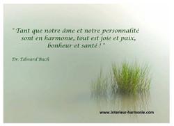 Citation du dr Bach