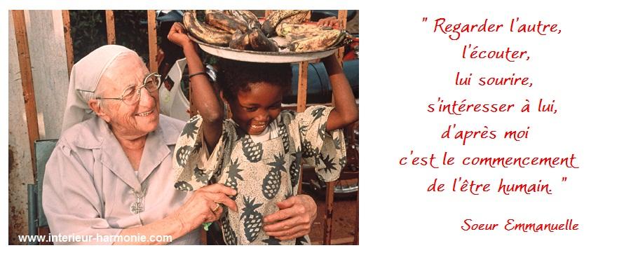 Citation de Sœur Emmanuelle