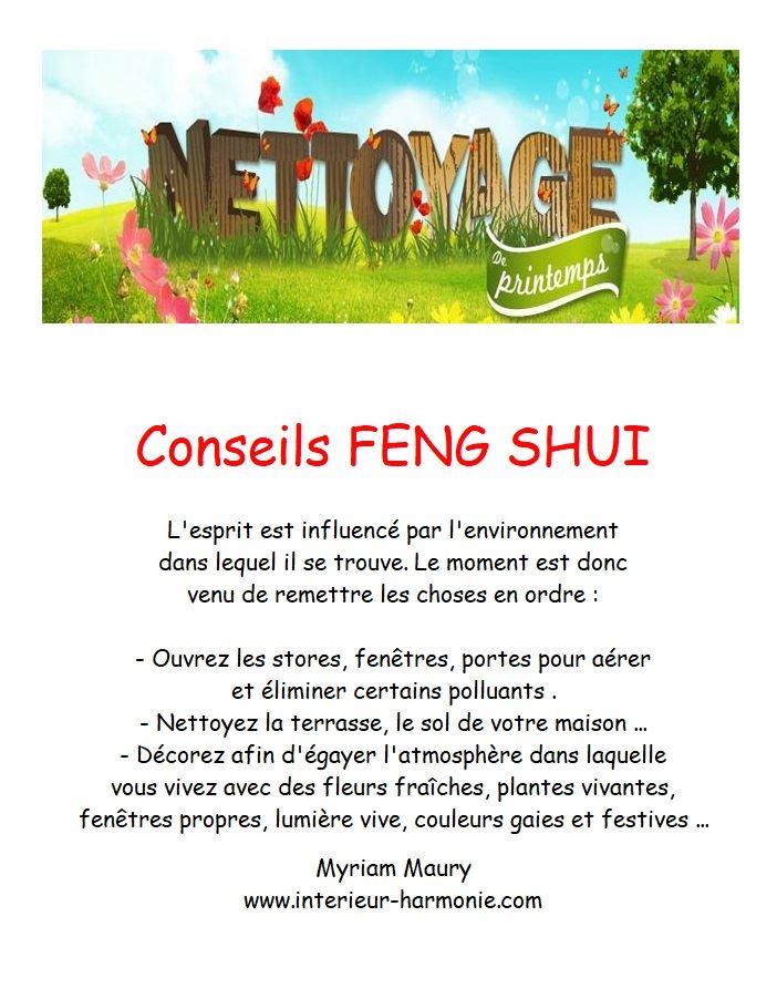 Conseils Feng Shui