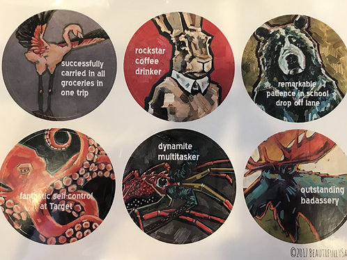 true spirit animal sticker sheets