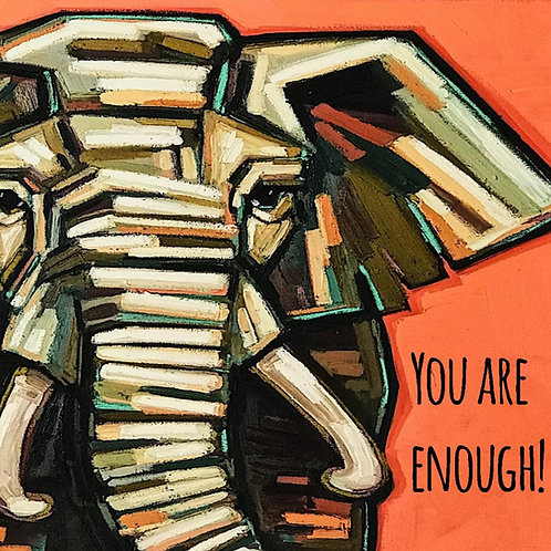 You Are Enough postcard