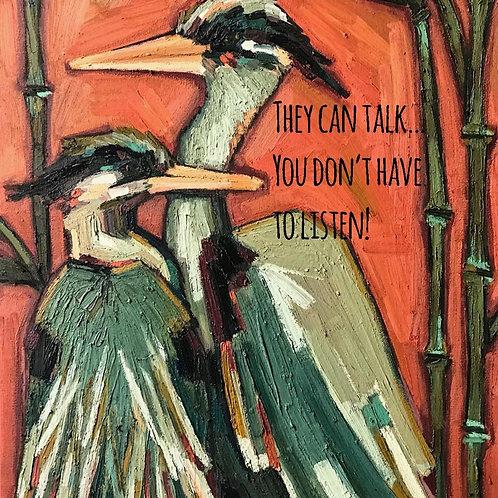 They Can Talk postcard