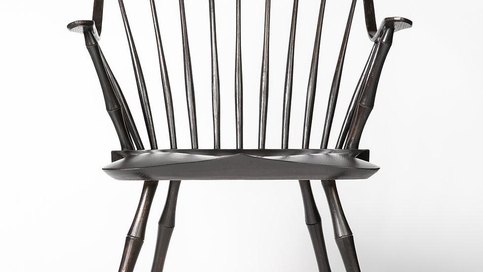two colour continuous arm chair