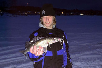 ice fishing Callander Ontario