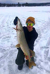 ice fishing Callander Lake Nipissing