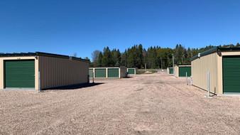 Six storage buildings