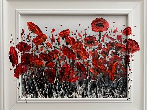 POPPIES POPPIN' OUT Original Palette Knife Textured Painting