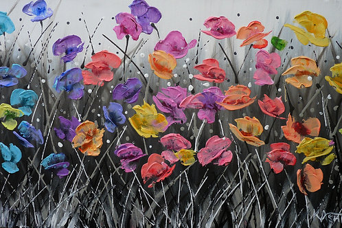 MY HAPPY PLACE Original Palette Knife Textured Painting