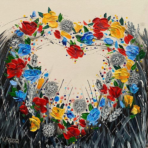 COLOURFUL LOVE Original Palette Knife Textured Painting